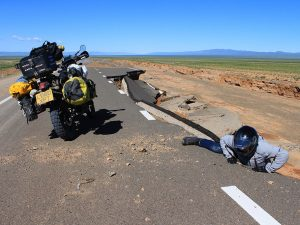 Motorcycle travel in Mongolia bad roads