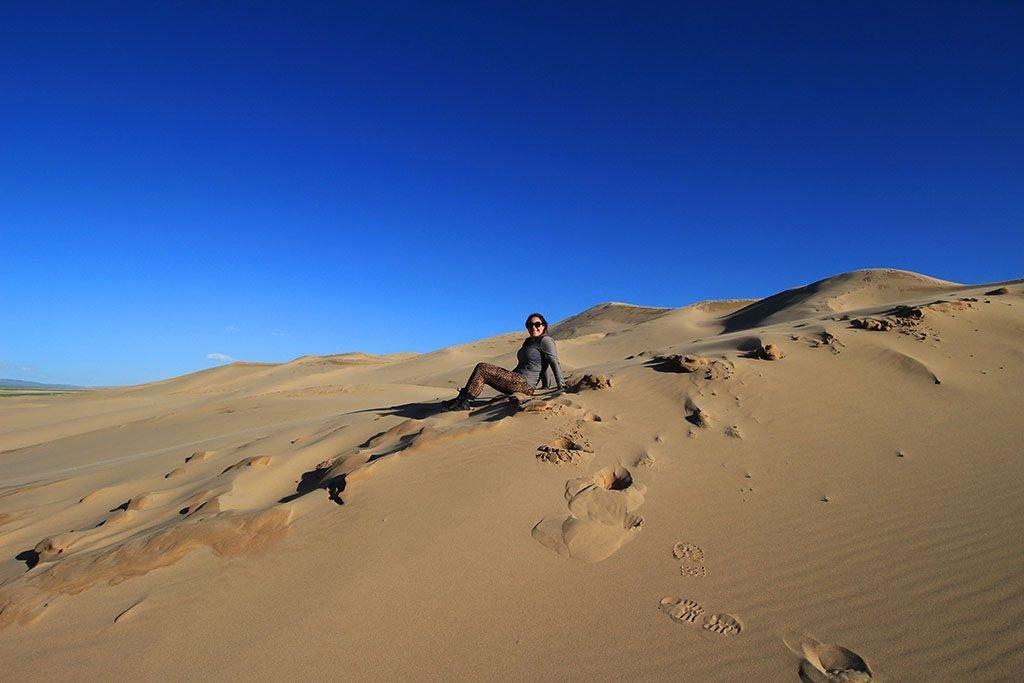 Adventure Motorcycle Travel in Mongolia Gobi Desert
