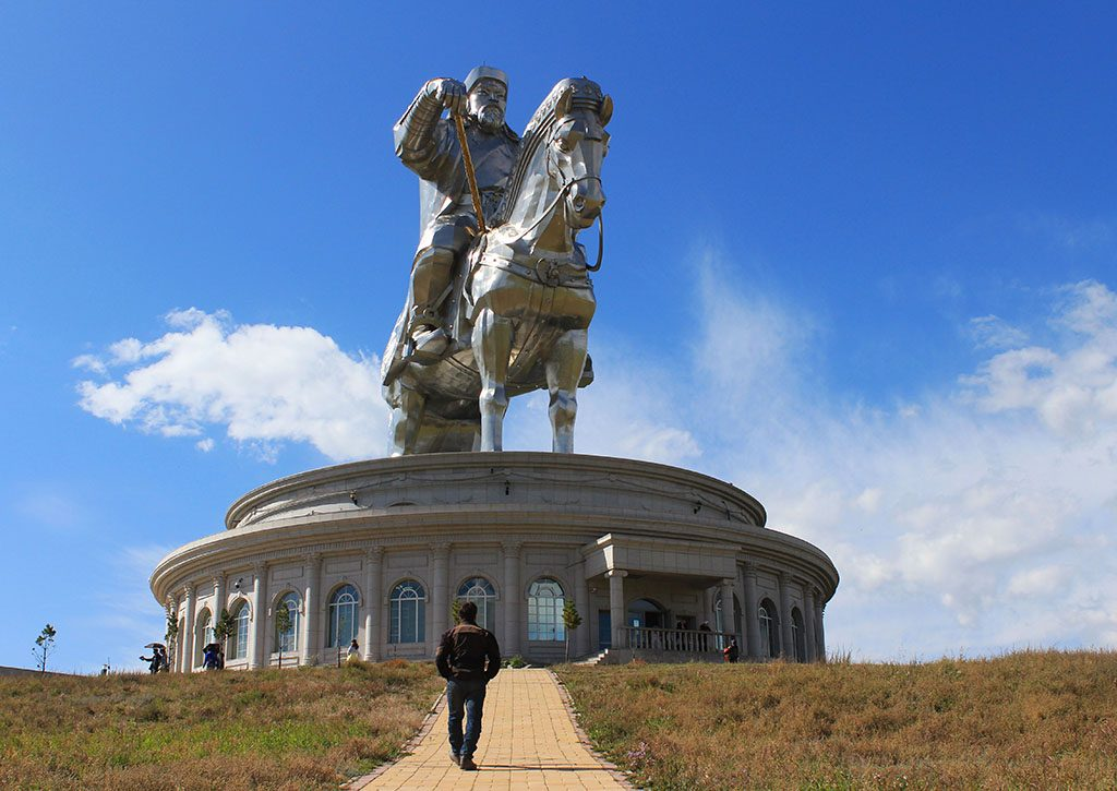 Visiting the epic Ghengis Khan statue in Mongolia