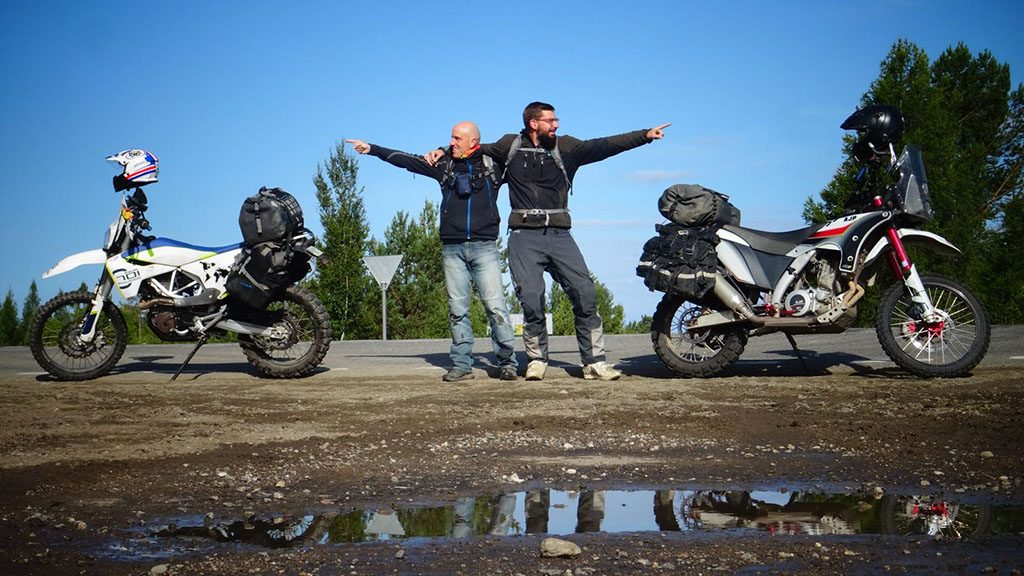 Motorcycle travellers in Mongolia