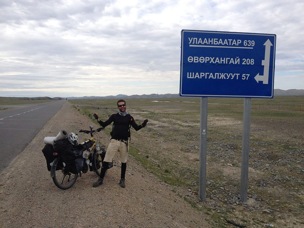 Cycling through Mongolia