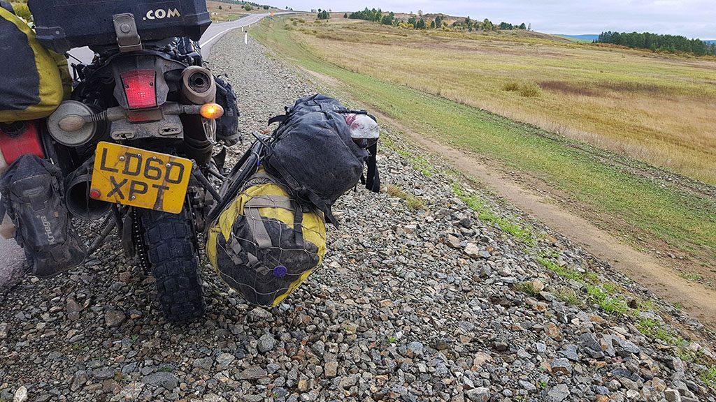Broken bike in Russia