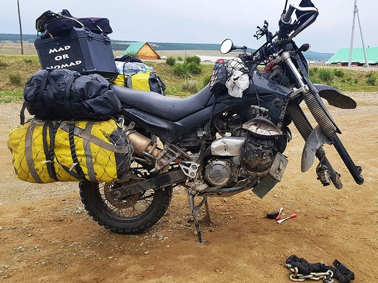 Motorcycle travel in Siberia