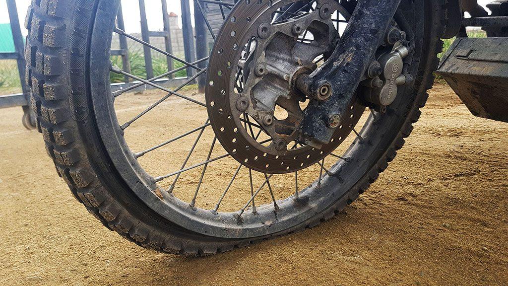 Flat tyre in Siberia