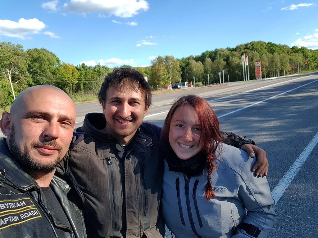 Russian motorcycle friends