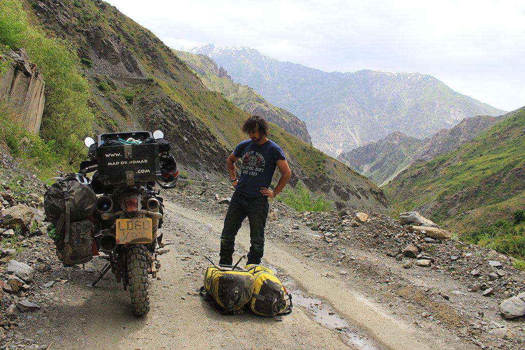 broken down in the pamir mountains near khorog
