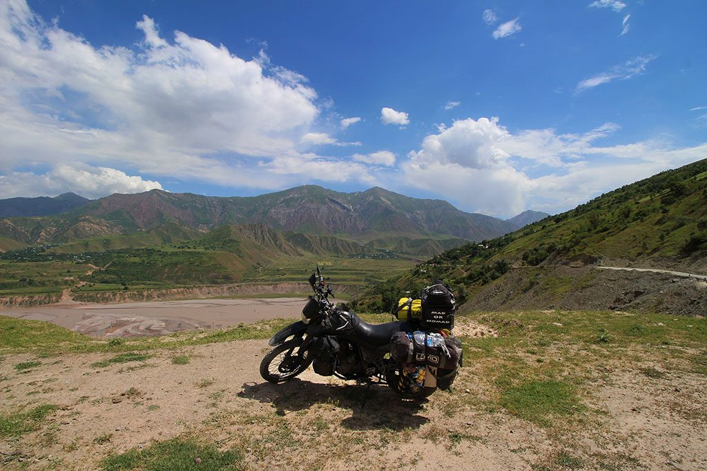 bike travels through the Pamirs