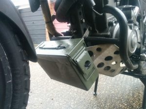 DIY motorbike tool luggage