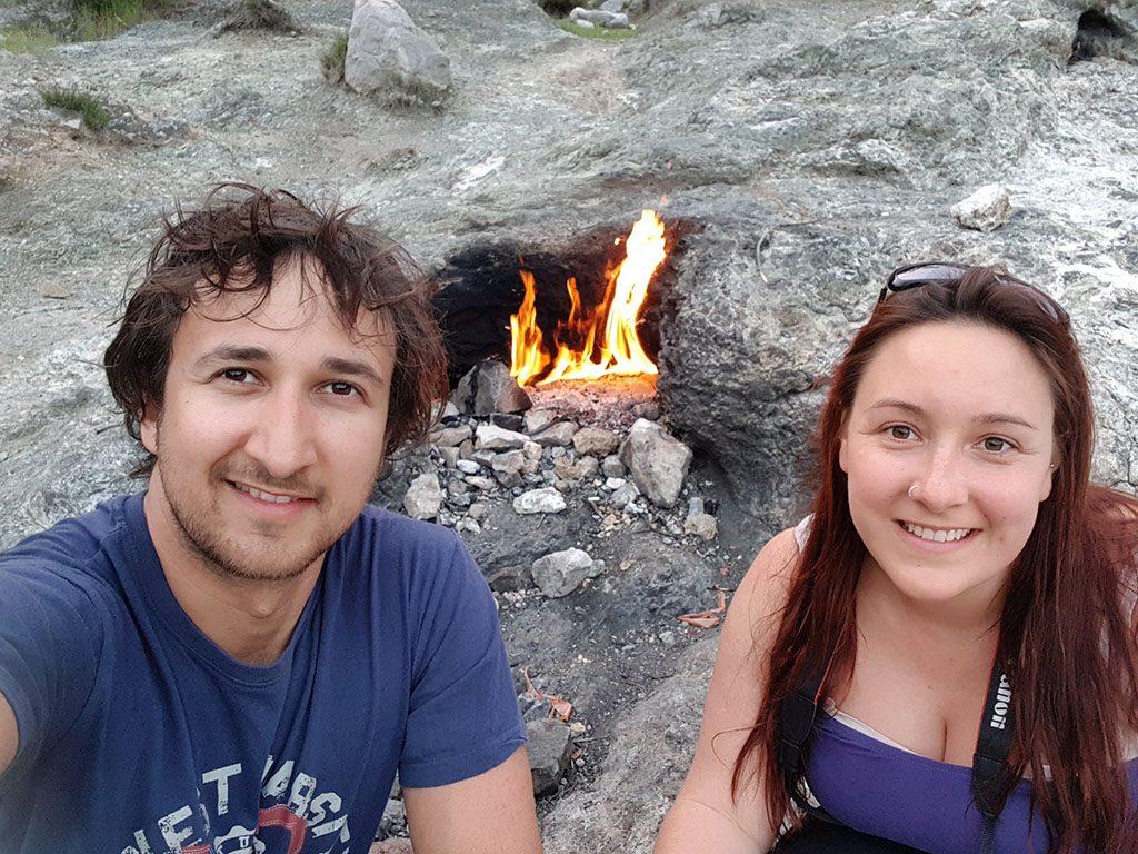 Eternal flames in Turkey