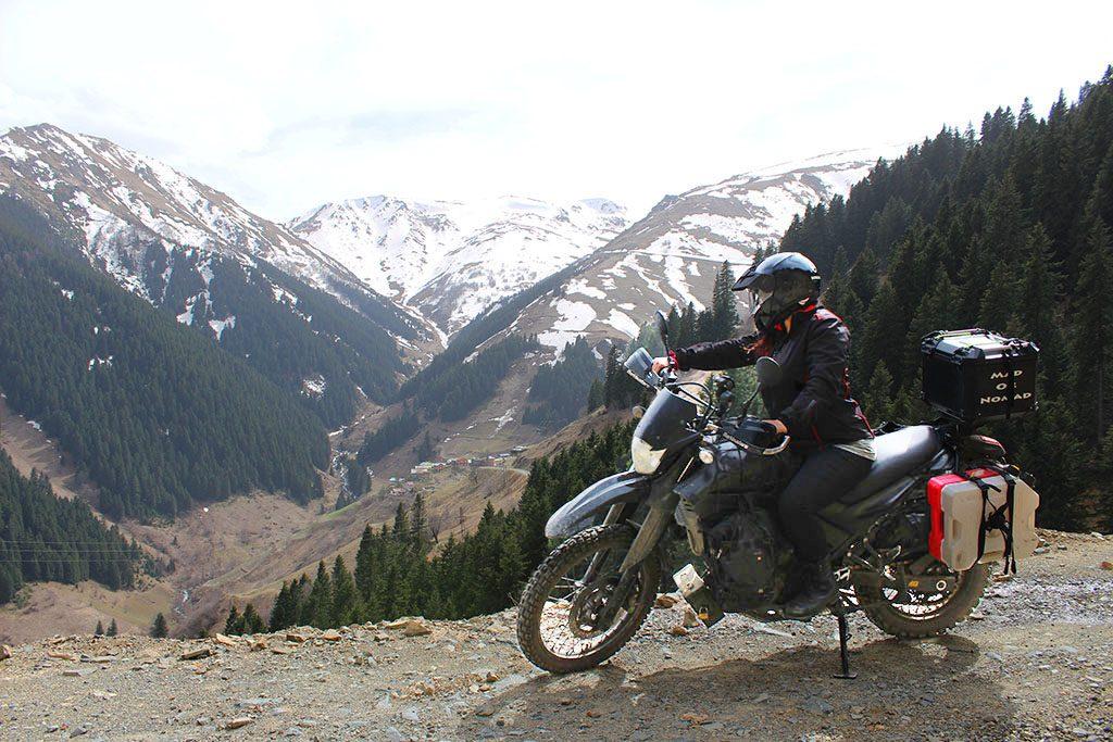 Adventure biking in Turkey's cold mountains