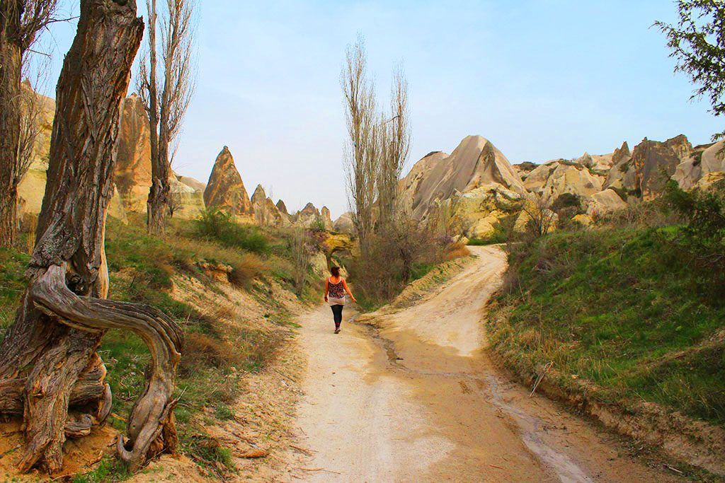Walking through Love Valley in Cappadocia
