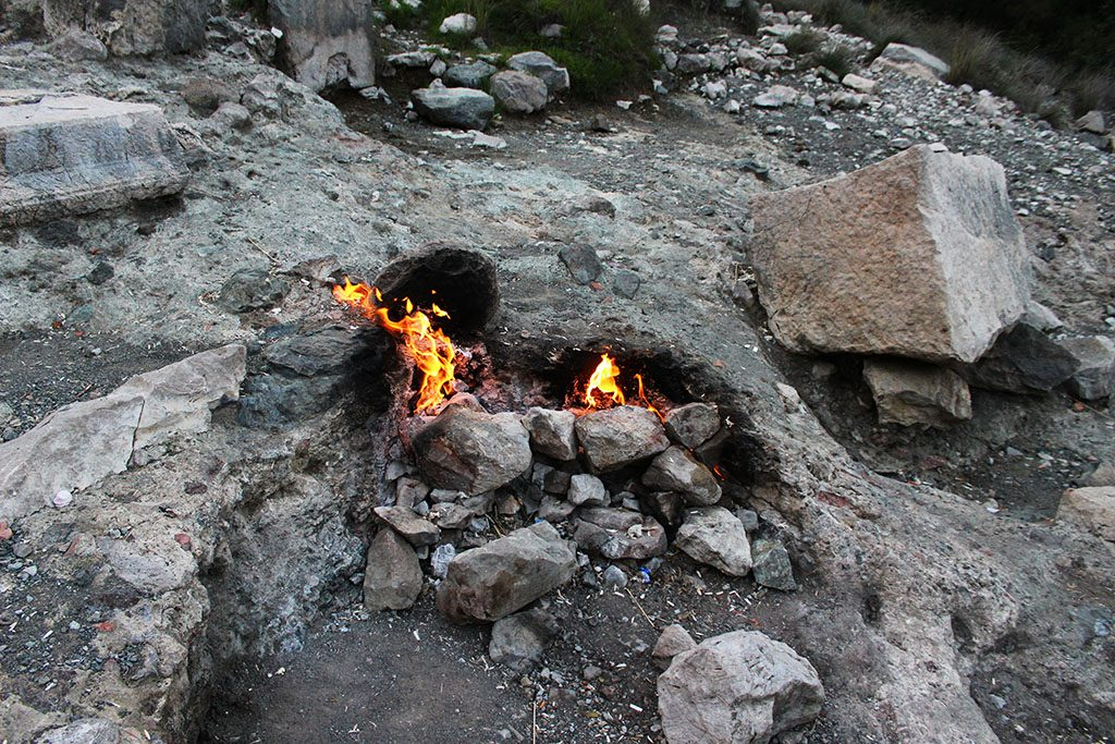Eternal fire in Turkey