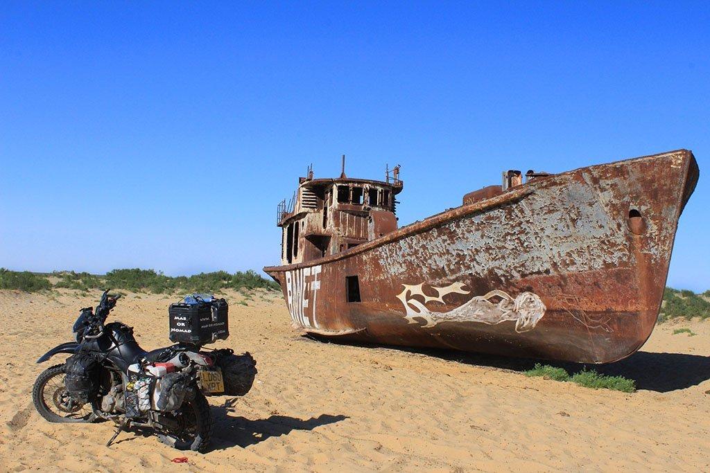 Aral Sea desert boats
