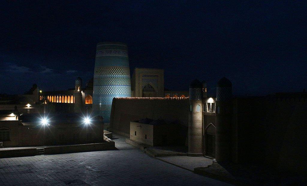 Khiva at night