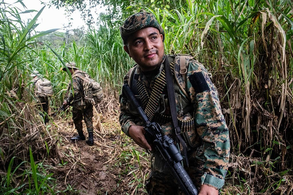 SENA FRONT soldier in Darien Gap