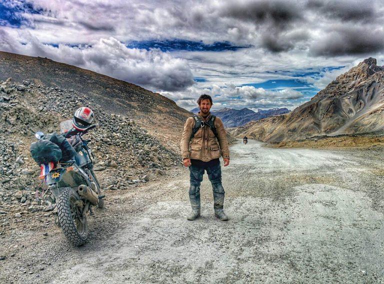 Stormy skies in India motorcycle trip