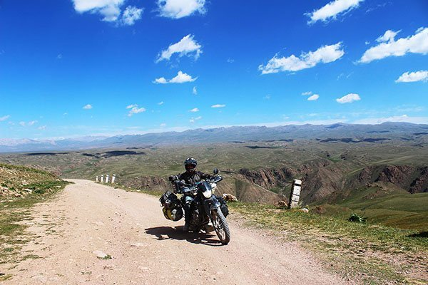 Motorcycle adventure travel in Kyrgyzstan