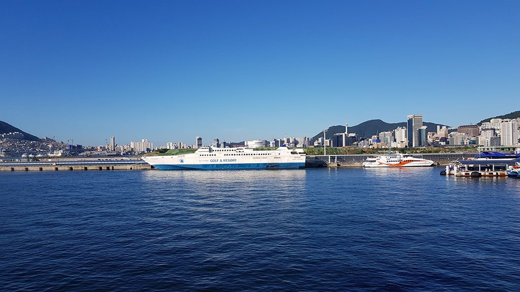 How to get a ferry from South Korea to Japan