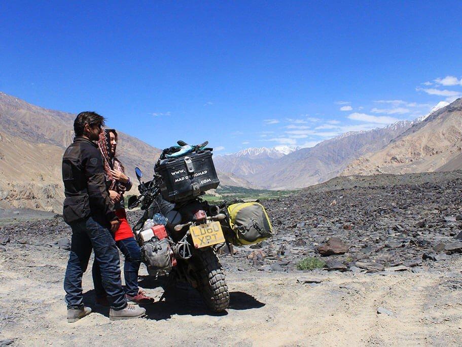 Motorcycle travel in Wakhan Corridor