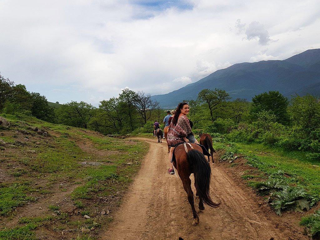 Horse riding in Armenia Dilijan