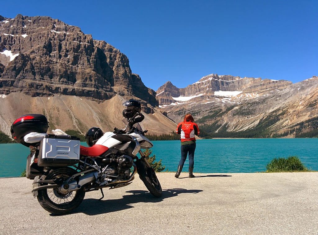 motorcycle icefields parkway canada