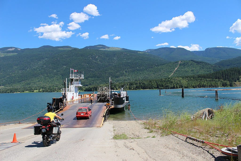 Canadian vehicle ferry in Rockies