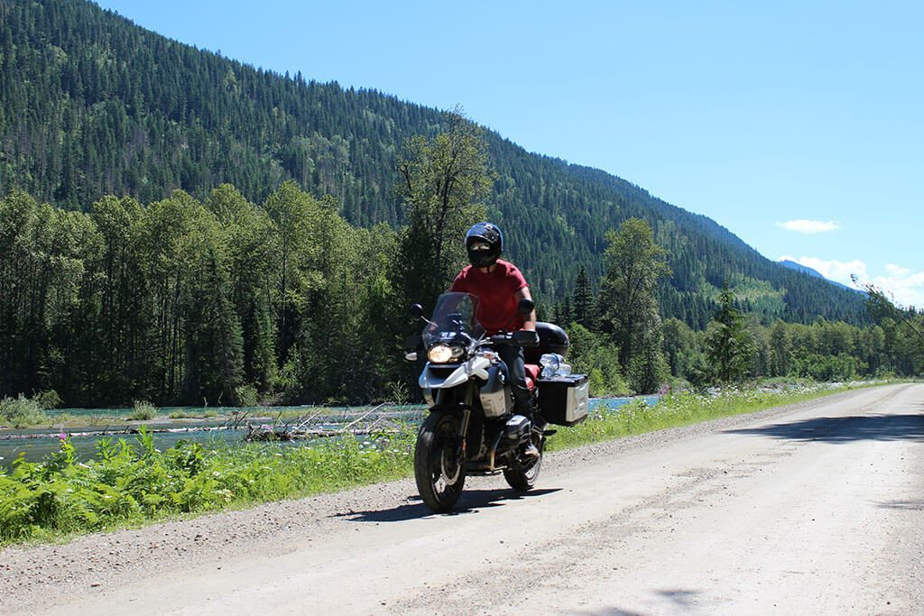 Off-road riding in British Colombia Canada