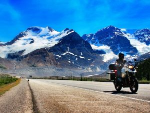 motorcycle adventure Canadian Rockies Canada