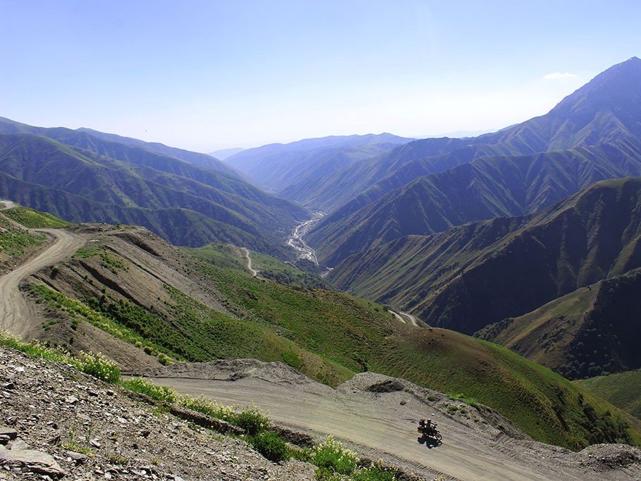Adventure motorcycle travel in Kyrgyzstan