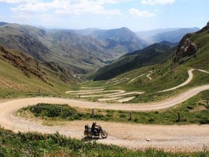 Motorcycle travel in Kyrgyzstan