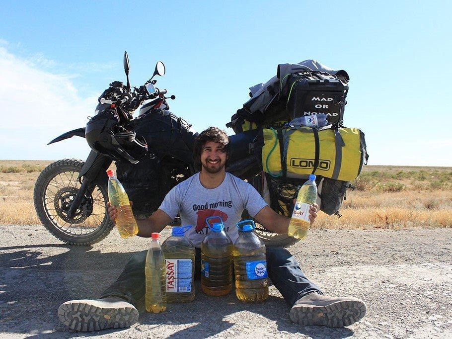 Motorcycle travel in Uzbekistan and petrol