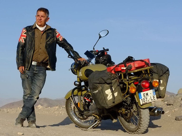 Royal Enfield motorcycle travel the world