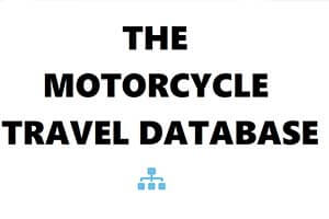 Motorcycle Travel Database sidebar