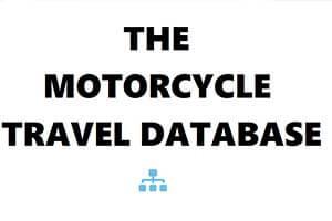 Motorcycle Travel Database sidebar