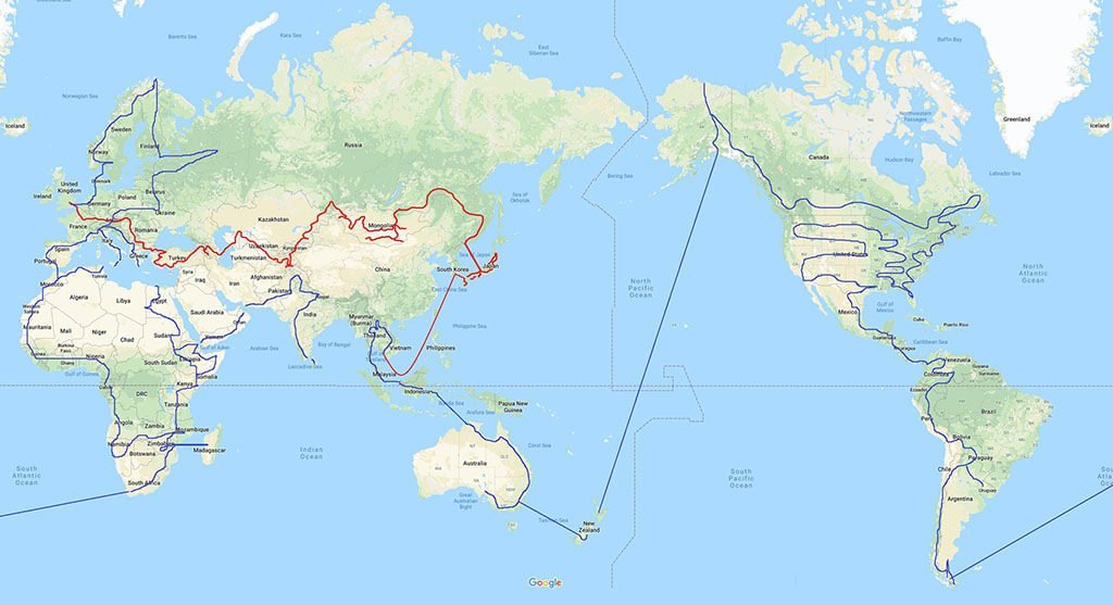 Mad or Nomad World Route