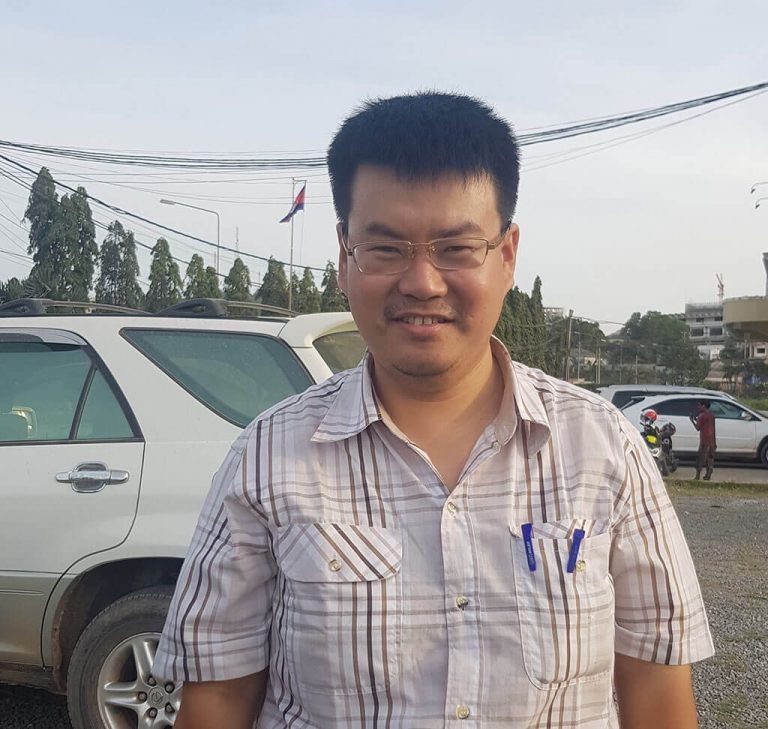 Mr Lim Seang Cambodia shipping vehicle