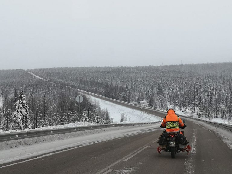 Motorcycle to coldest city on earth Yakutsk
