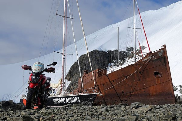 Motorcycling to Antarctica