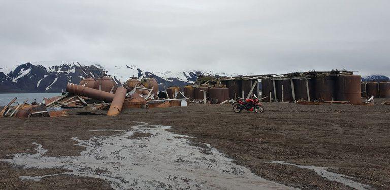 deception island motorcycle Antartica