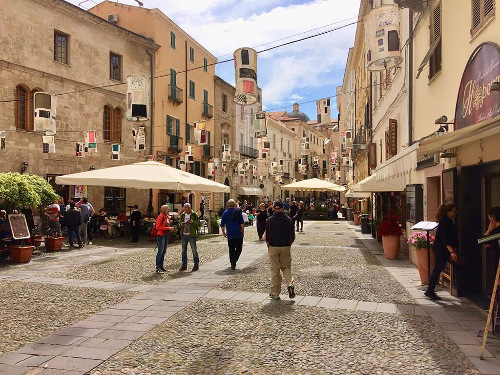 Town centre of Alghero, Sardinia