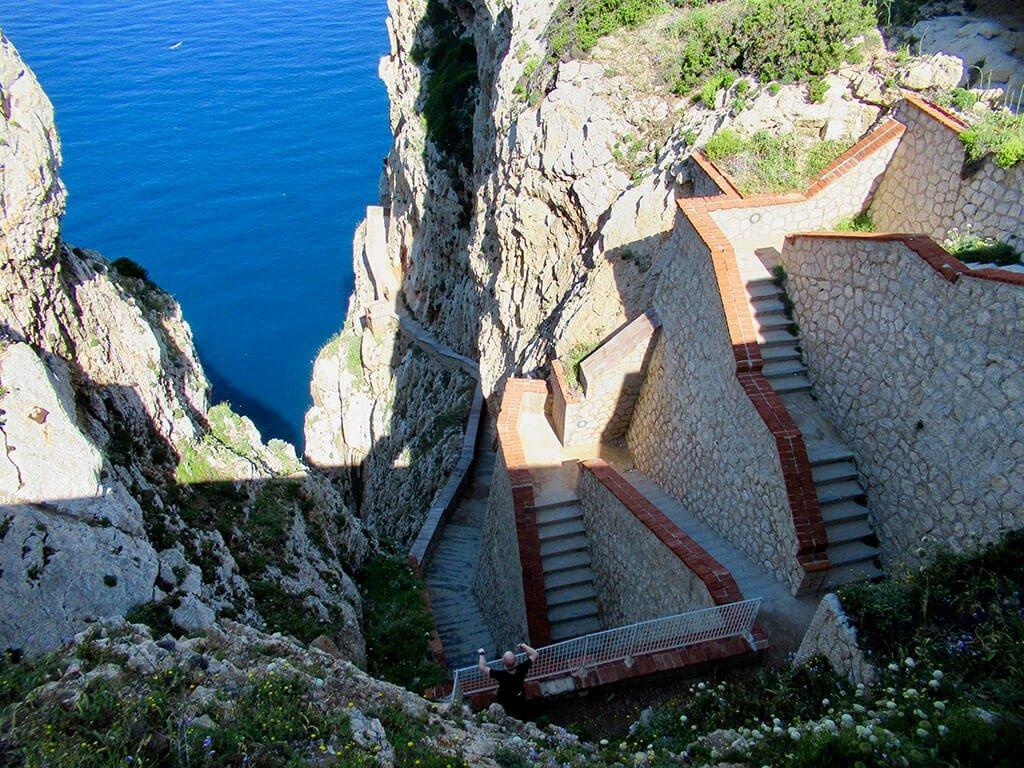 600 steps to Neptune Grotto, Sardinia