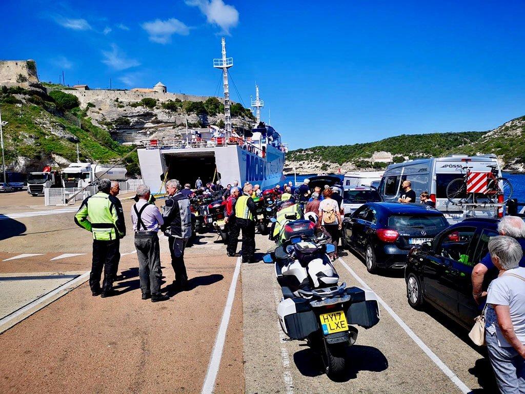 Bonifacio ferry port, awaiting departure to Sardinia