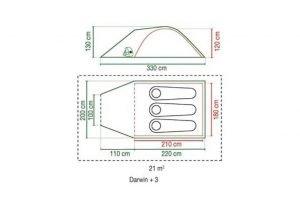 Coleman Darwin Motorycle Tent 2