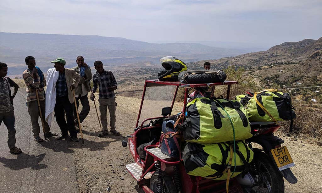 Sidecar Guys Scooter in Ethiopia