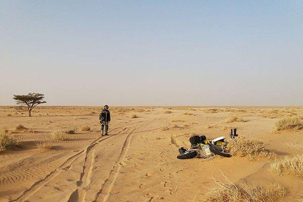 Lawrence Bransby Motorcycle Mauritania Sahara Railway Crossing
