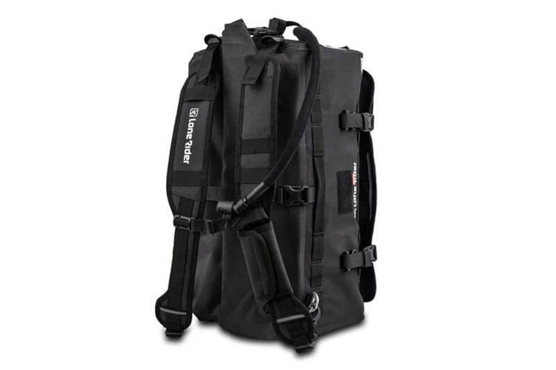 Lone Rider Overlander Duffle bag with rucksack straps